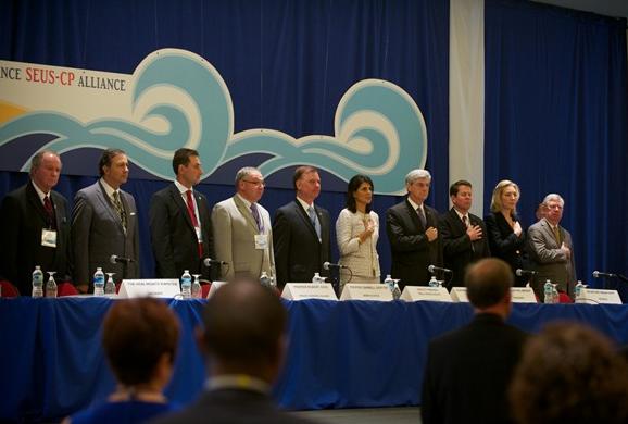 日升集团随同加拿大代表团参加美加省州长联盟会议