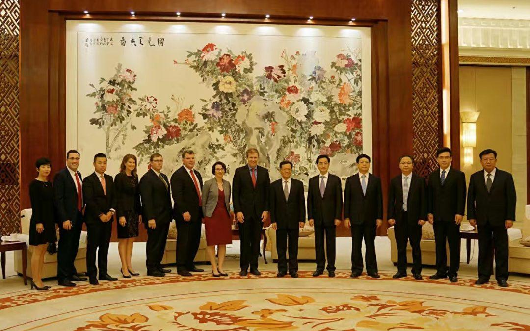 加拿大新布伦瑞克省省长布莱恩.格兰特在日升集团陪同下访问中国